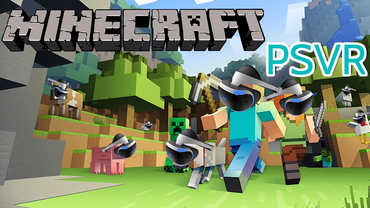 Minecraft on PSVR, well Discovery :D ( playstation vr gameplay