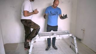 видео Стремянка трансформер алюминиевая универсальная своими руками: фото шарнирных лестниц 4х4