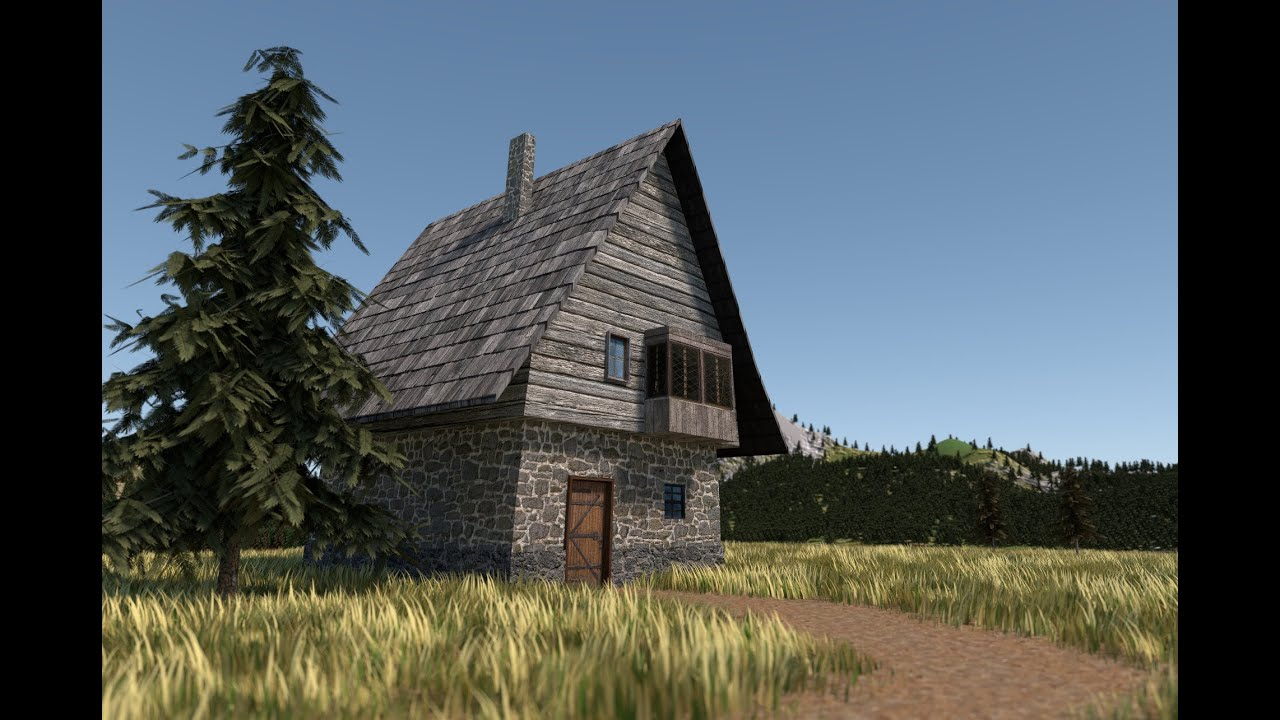 Blender modeling and texturing simple medieval house for Classic house tutorial