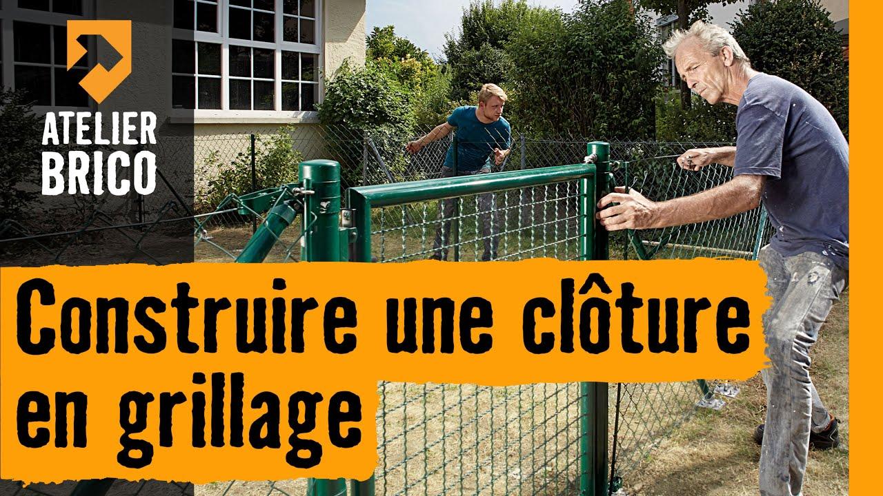 Construire une clôture en grillage - Instruction HORNBACH Suisse