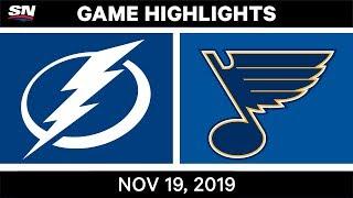 NHL Highlights   Lightning vs Blues - Nov. 19, 2019