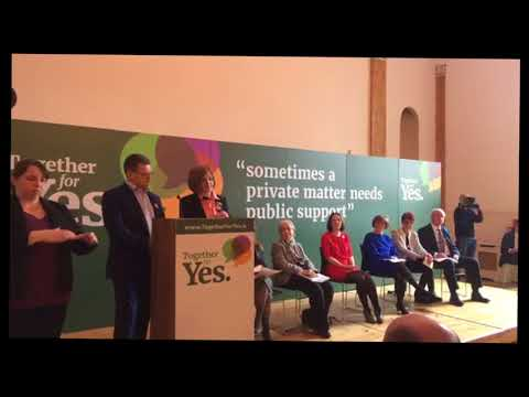 Launch of Together4Yes in Dublin