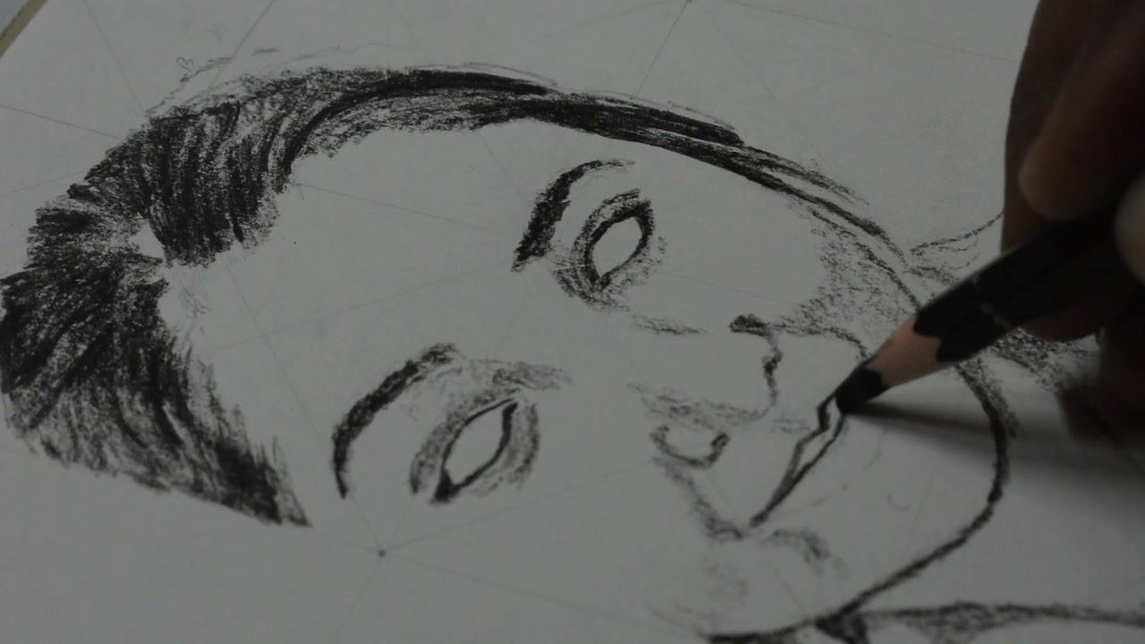 Pencil art drawing ii pretty face drawing amazing pencil drawing rasraj