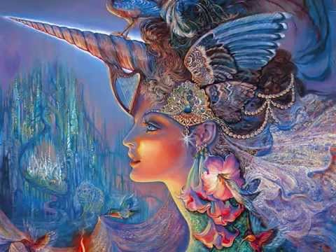 Josephine Wall Art - Fantasy- (Oil Painting) - YouTube