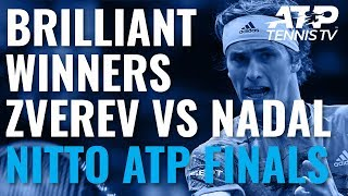 Brilliant Winners in Zverev vs Nadal | Nitto ATP Finals 2019
