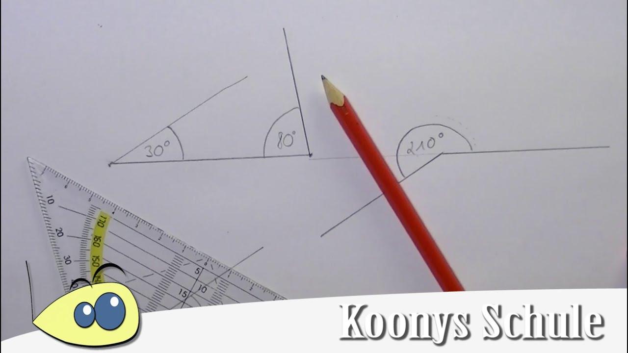Wie zeichnet man Winkel? Winkel einzeichnen mit Geodreieck ...