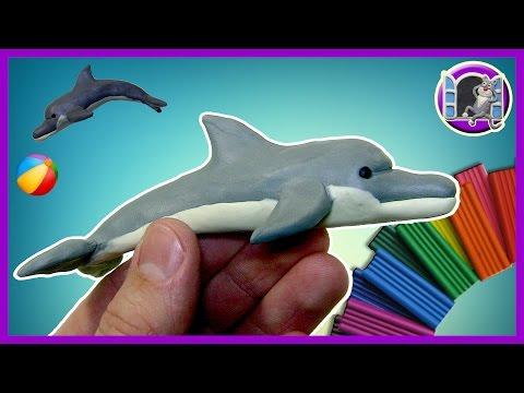 Как слепить из пластилина дельфина