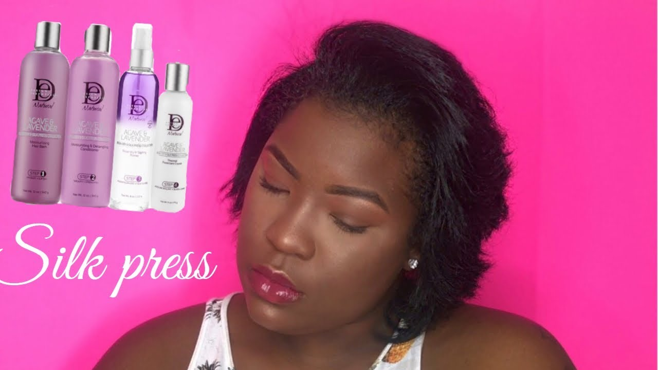 B Styled Hair Collection: DIY Silk Press On Short Natural Hair With / Design