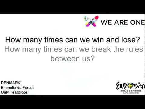 Eurovision 2013 | Denmark: Emmelie de Forest - Only Teardrops | Lyrics