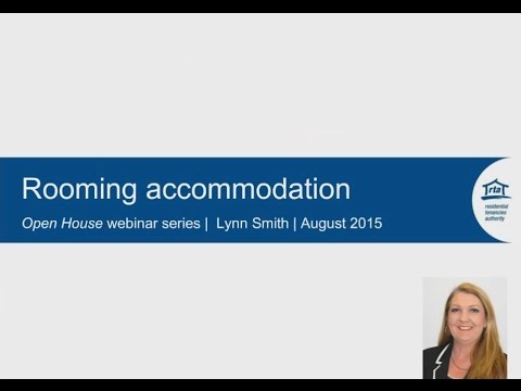 RTA Open house webinar series: Rooming accommodation