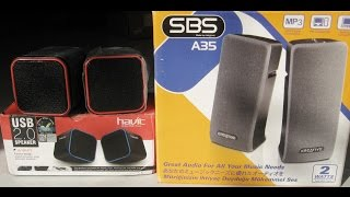 Bass comparison between 'Havit HV-SK473' USB 2.0 Mini Speaker and 'Creative A35' Speaker