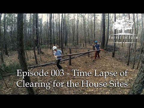 E003   Forest to Farm   Time Lapse of Clearing House Sites