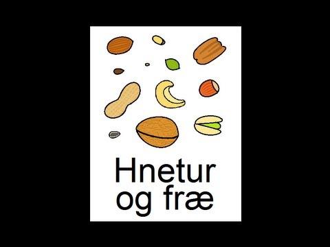 Icelandic Lesson #42: Nuts & Seeds - Singular and Plural, Pronunciation