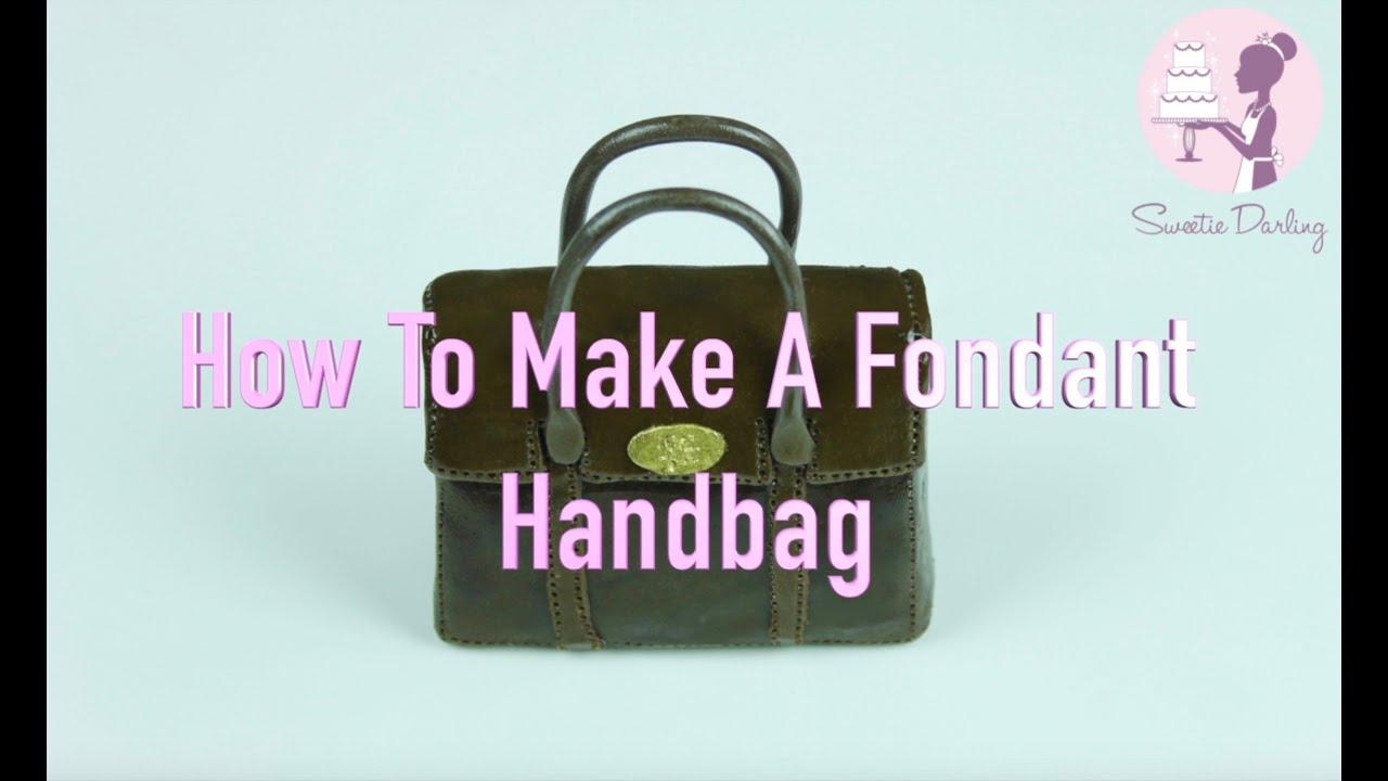 HOW TO MAKE A FONDANT MULBERRY HANDBAG - YouTube 104db1e73792e
