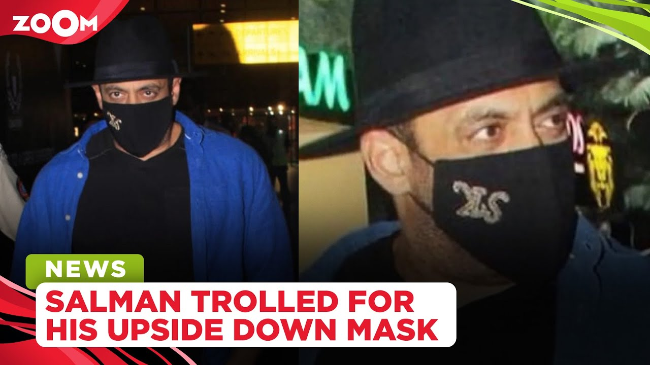 Salman Khan brutally trolled for wearing his mask upside down at the airport