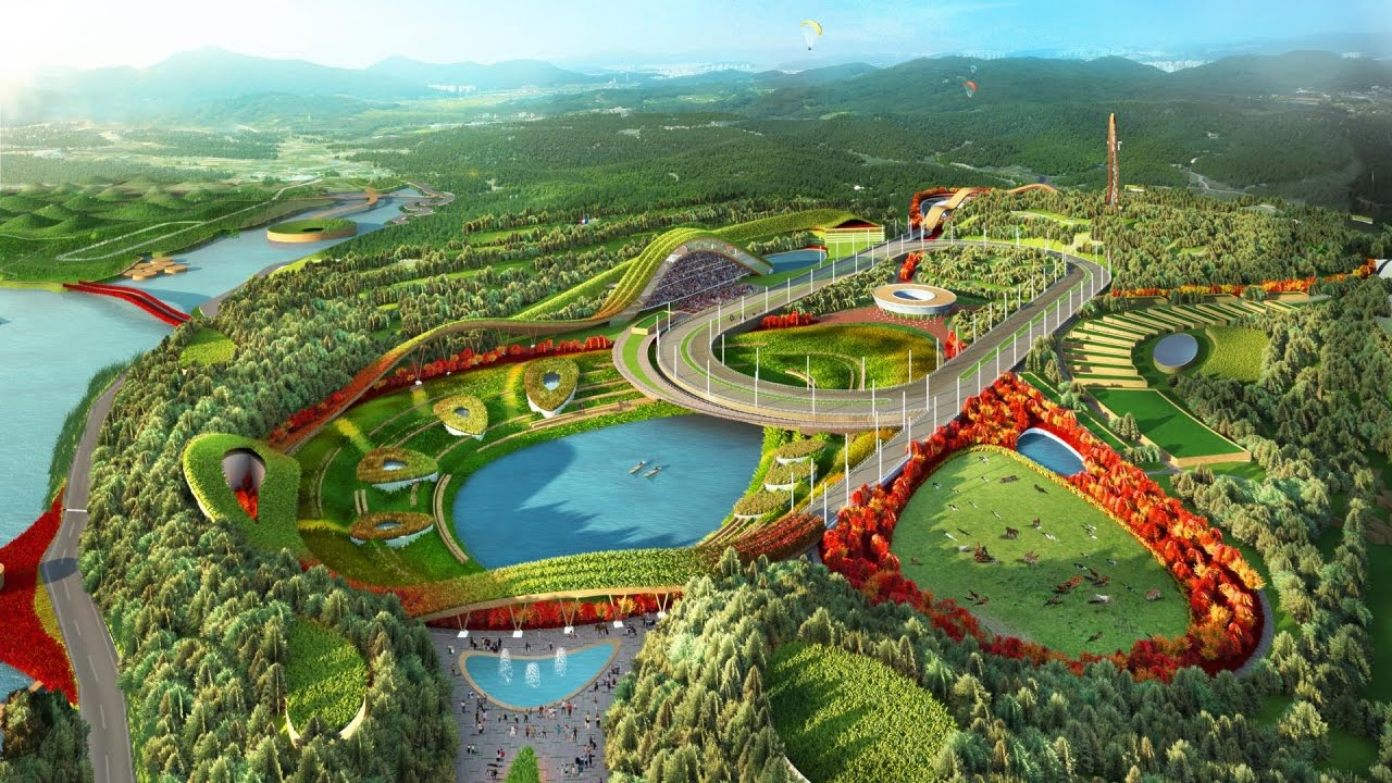 Roof Design Ideas: Eco-friendly Theme Park