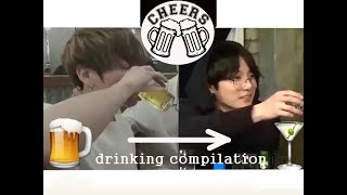 Jungkook Drinking (and not drinking) On Camera | DRINKING COMPILATION