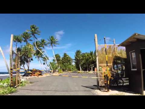 Tuvalu Funafuti Route vers Funafuti ville, Gopro / Tuvalu Funafuti Road to Funafuti city, Gopro