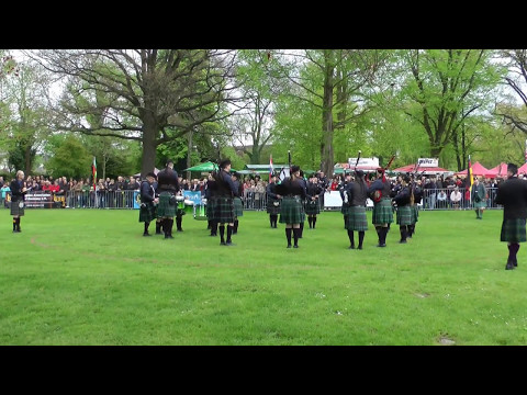 19.  Highland Gathering 2017 mit den Owl Town Pipe & Drum Band
