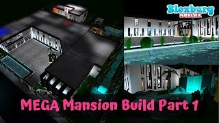 MEGA MANSION SPEEDBUILD PART ONE (TOUR) | MODERN | Bloxburg | Roblox | Mamabear