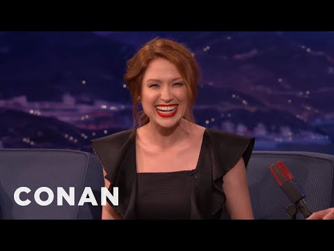 Ellie Kemper Took Up Smoking To Seem Cool  - CONAN on TBS