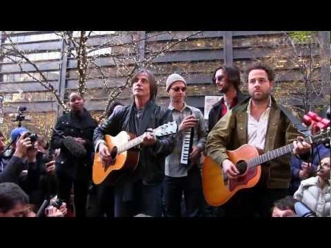 Jackson Browne + Dawes Concert at Occupy Wall St Dec 1 2011