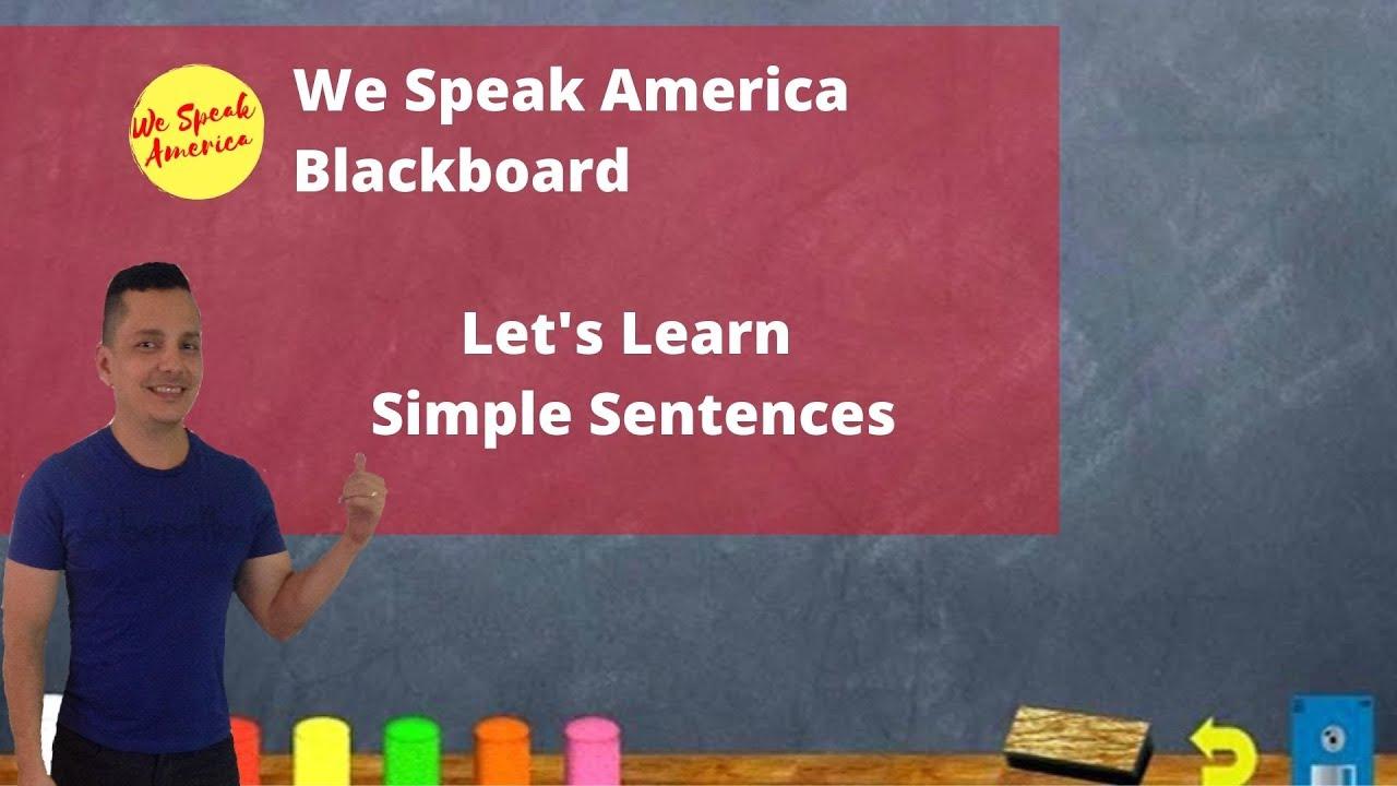WSA Blackboard: Let's Learn Simple Sentences
