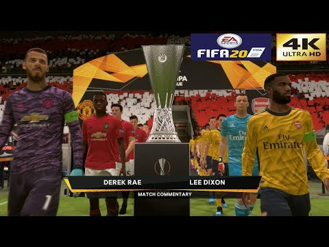 FIFA 20 (PC) Manchester United vs Arsenal   UEFA EUROPA LEAGUE FINAL GAMEPLAY   4K 60FPS