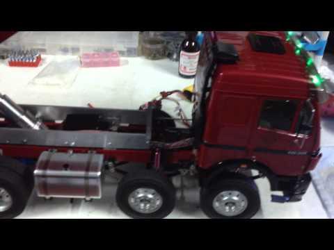 รถดั้ม 12 บังคับ Benz 8x4 Hydarulic Dump By Pae Rcubon