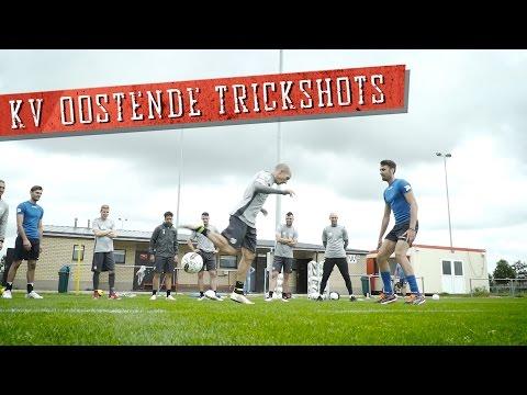 Soccer trick shots with KV Oostende