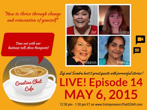 Creative Chat Cafe - How to thrive through change and reinvention of yourself.