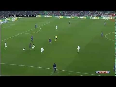 Leo Messi incredible dribbling skills vs Real Betis. BEST PLAYER EVER!