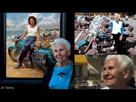 Fast Freddie - This Woman Is Amazing!  She's 93 And Still Rides A Motorcycle