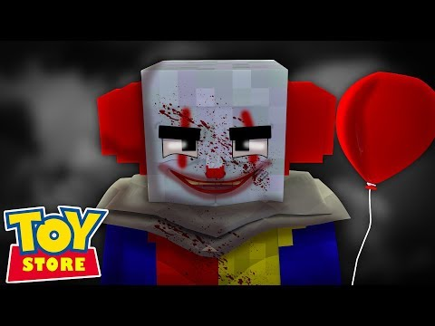 IT THE CLOWN KIDNAPS LITTLE CARLY !!! Minecraft TOY STORE w/ Sharky and Little Kelly