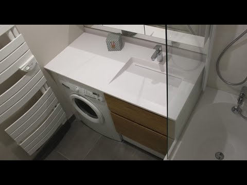 Tokyo Comment Installer Un Meuble Avec Lave Linge Dans Une Petite Salle De Bain Youtube