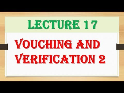 Vouching and Verification| CA IPCC Auditing|Audit| Part 1