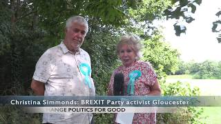 BREXIT Party activist Christina Simmonds interviews Peter Sheehy Candidate for Barnwood Ward
