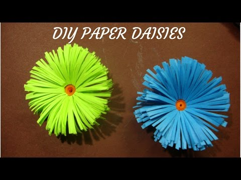 craft with paper. How to make flower daisies  from paper. paper flower daisies.