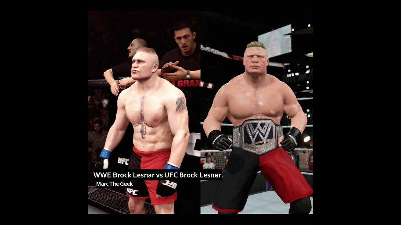 Ufc Brock Vs Wwe Lesnar