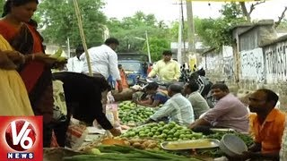 People In Concern With Thieves In Armoor Vegetable Market   Nizamabad   V6 News