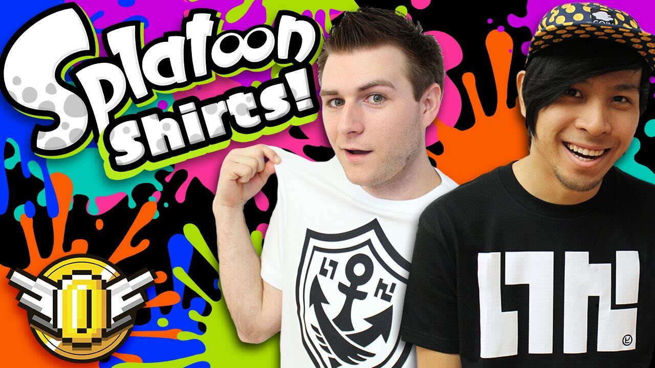 dc7f9c1ad9 Splatoon Gear In REAL LIFE - Nintendo   King of Games Shirts Review! - Super  Coin Crew