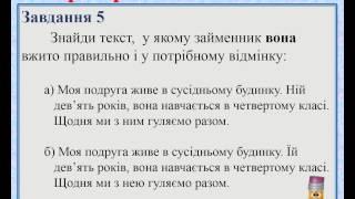 Українська мова  4 клас  Перевірна робота  Мовна тема ЗАЙМЕННИК