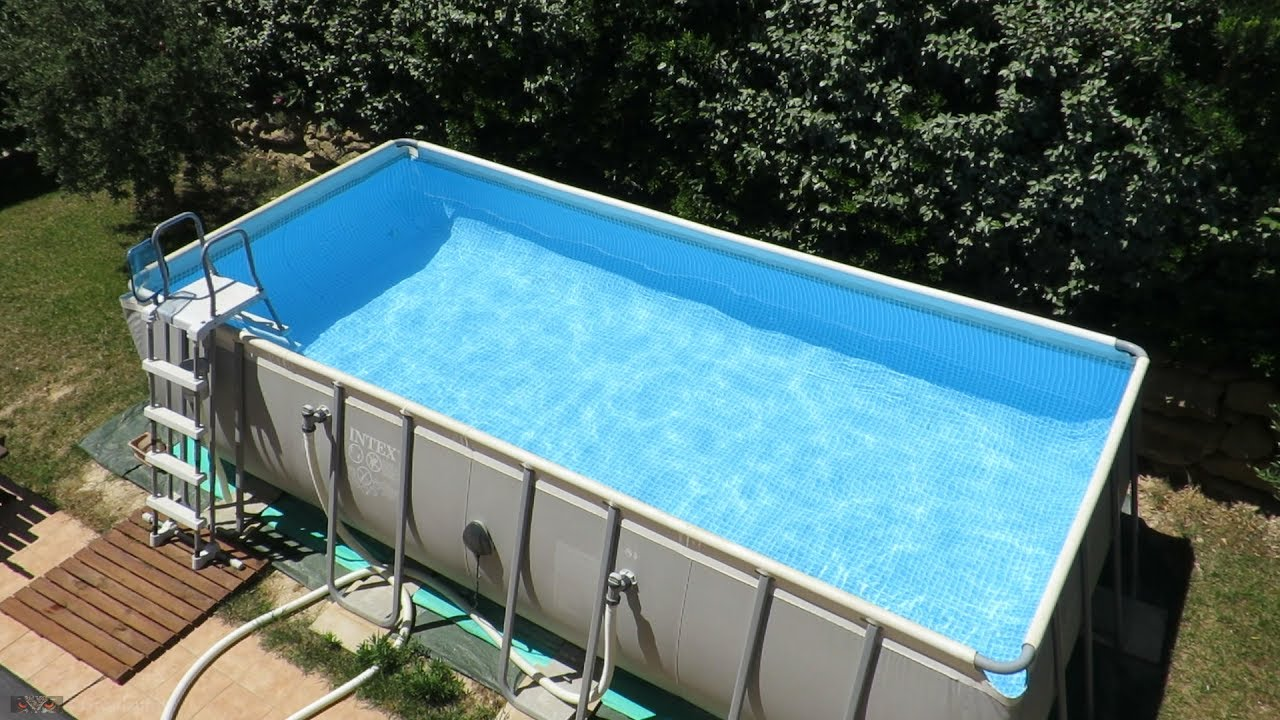 Montage et remplissage rapide de ma piscine intex ultra - Piscine rectangulaire hors sol intex ...