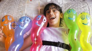 Guka and Nastia Playing with Funny Baby Balloons | Are You Sleeping Kids Songs