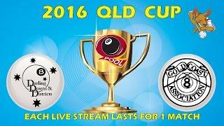 2016 Qld Cup - Men's 8 Ball Team - Darling Downs v Gold Coast 9:30pm