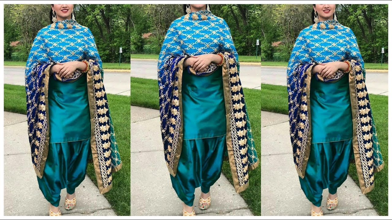 54843267b0c Latest Plain Punjabi Suit Designs /College Wear Punjabi Suits Designs || Punjabi  Suit Designs 2018
