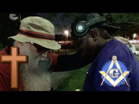 Freemason REPENTS & throws away Satanic necklace!