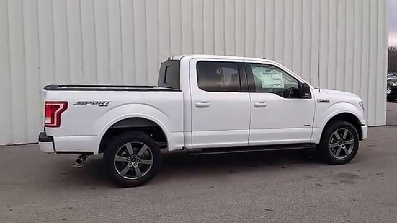 oxford white 2016 f 150 supercrew 4x4 xlt sport 5 5 39 2 7l 302a tow youtube. Black Bedroom Furniture Sets. Home Design Ideas