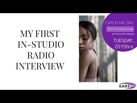 MY FIRST EVER RADIO INTERVIEW  AONE DITIRWA (BOTSWANA YOUTUBER)