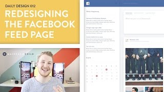 Daily Design 012 - Redesigning the Facebook Feed Page